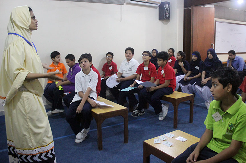 A public speaking class in session.