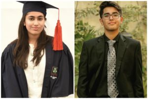 DISTINCTION FOR ANOUSHAY KHURSHID & ZAIR ABBAS
